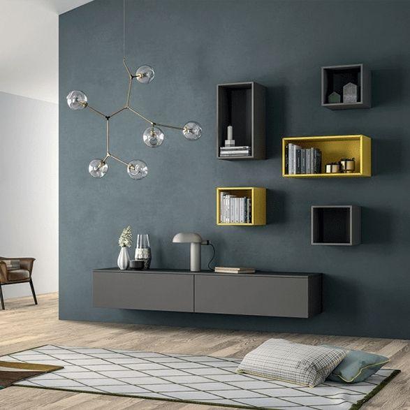Bookcase Wall Unit, Italian Living