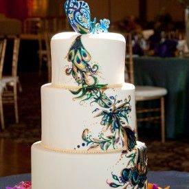 Peacock cake from a bakery near me Cakes wedding or otherwise