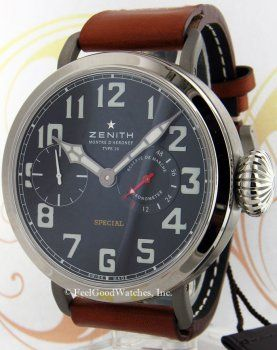 Zenith 95.2420.5011/21.C723 Montre d'Aeronef Type 20 Limited Edition, Titanium Price $10,950.00