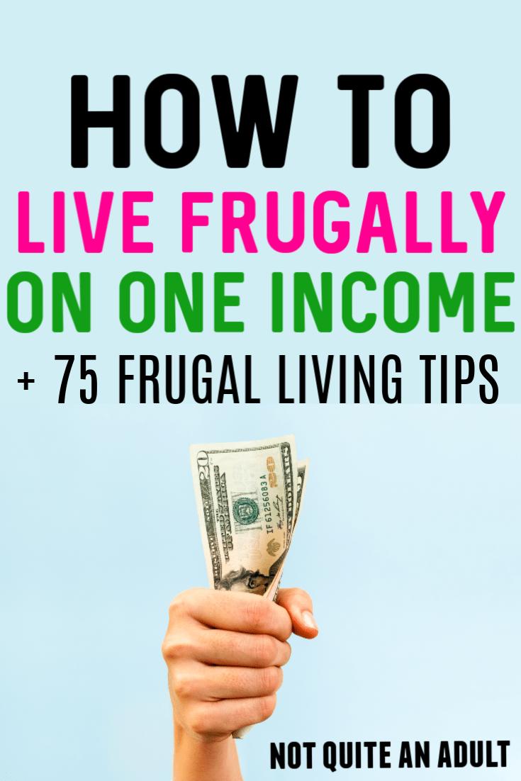 Wie man sparsam von einem Einkommen lebt
