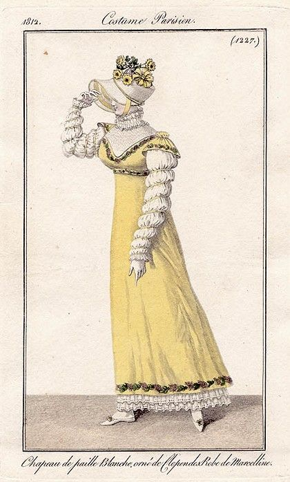 1812 yellow dress