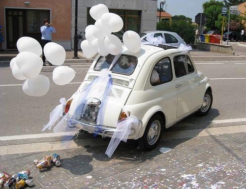 Bomboniere Matrimonio Fiat 500.500 Wedding S Car Wedding Car Decorations Wedding Car Wedding