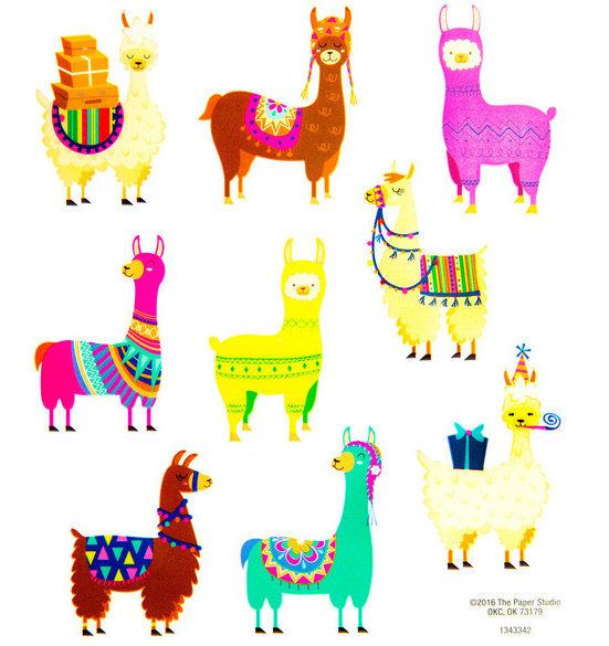 Llama Stickers Scrapbooking Decorative - Planner Supplies ...