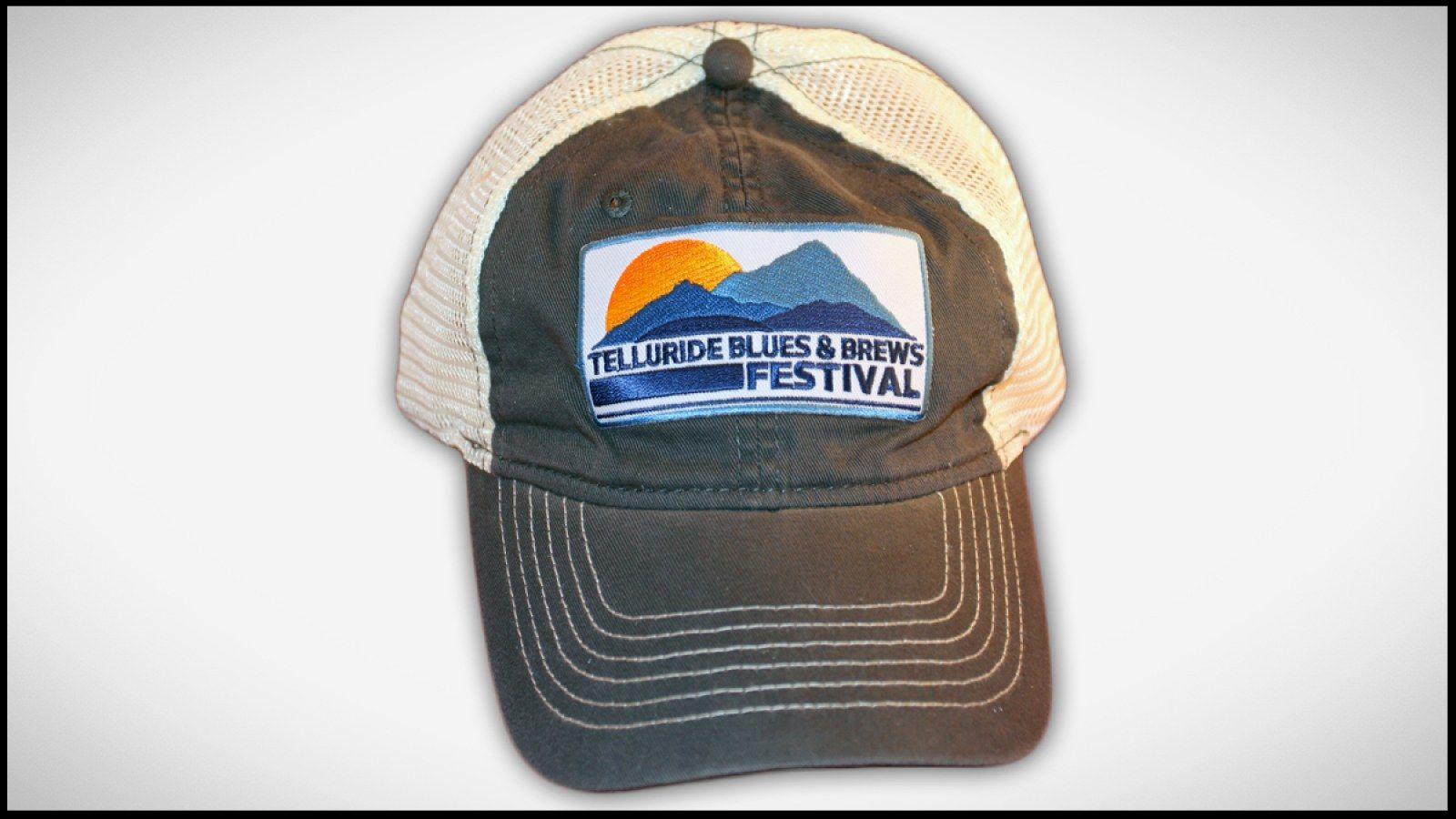 Charcoal Trucker Hat Telluride Blues Brews Festival Telluride Blues And Brews Festival Gear Blues