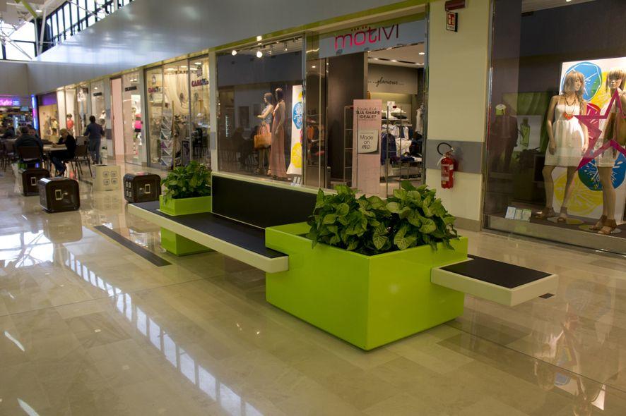 Relook galerie marchande, Como, Fima Arredo, mobilier urbain Reggio ...