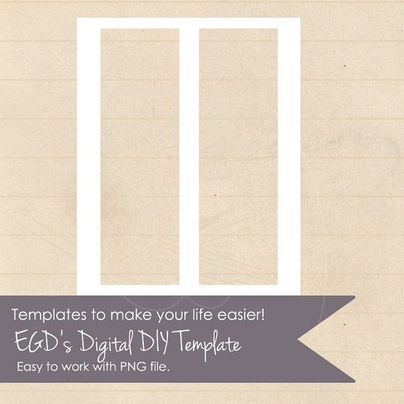 3x10 inch Bookmarks Large Blank template by erikasgraphicdesign - blank bookmark template