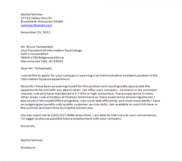 Email Cover Letters For Teachers Writefiction Web Closing