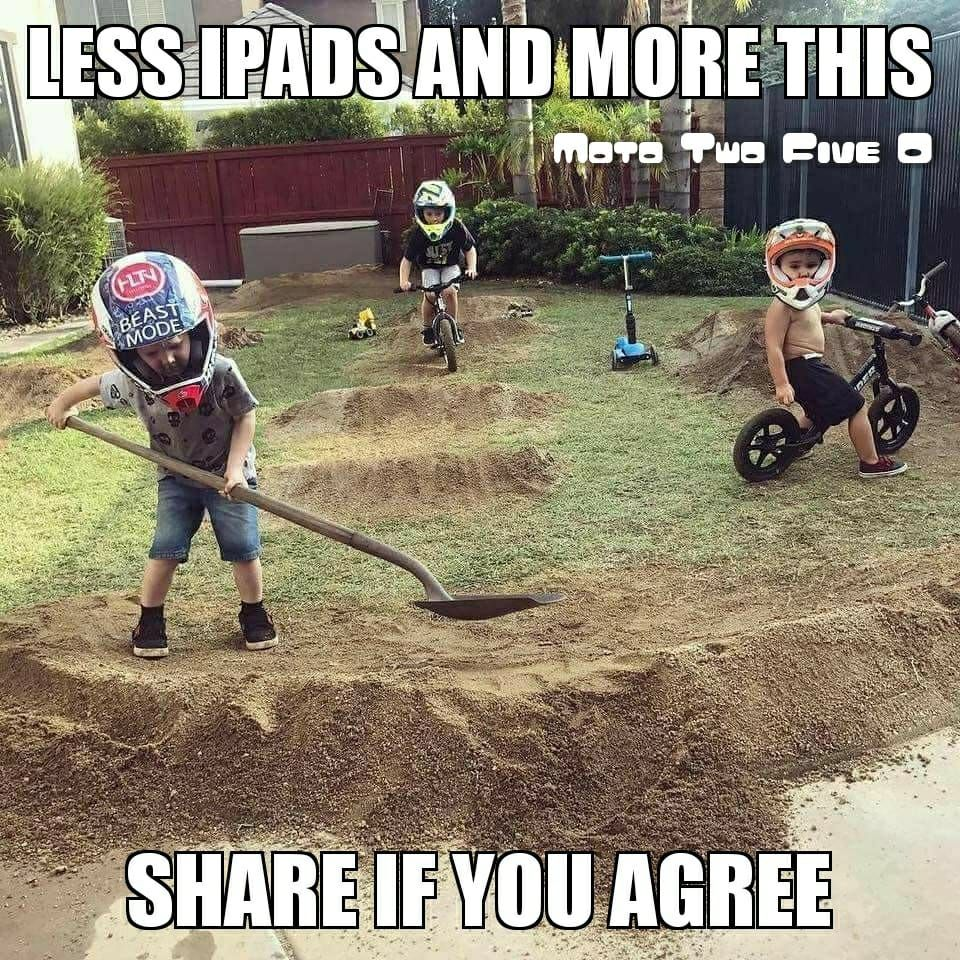 Depends Who S Back Yard That Is Kids Bike Track Dirt Bikes For