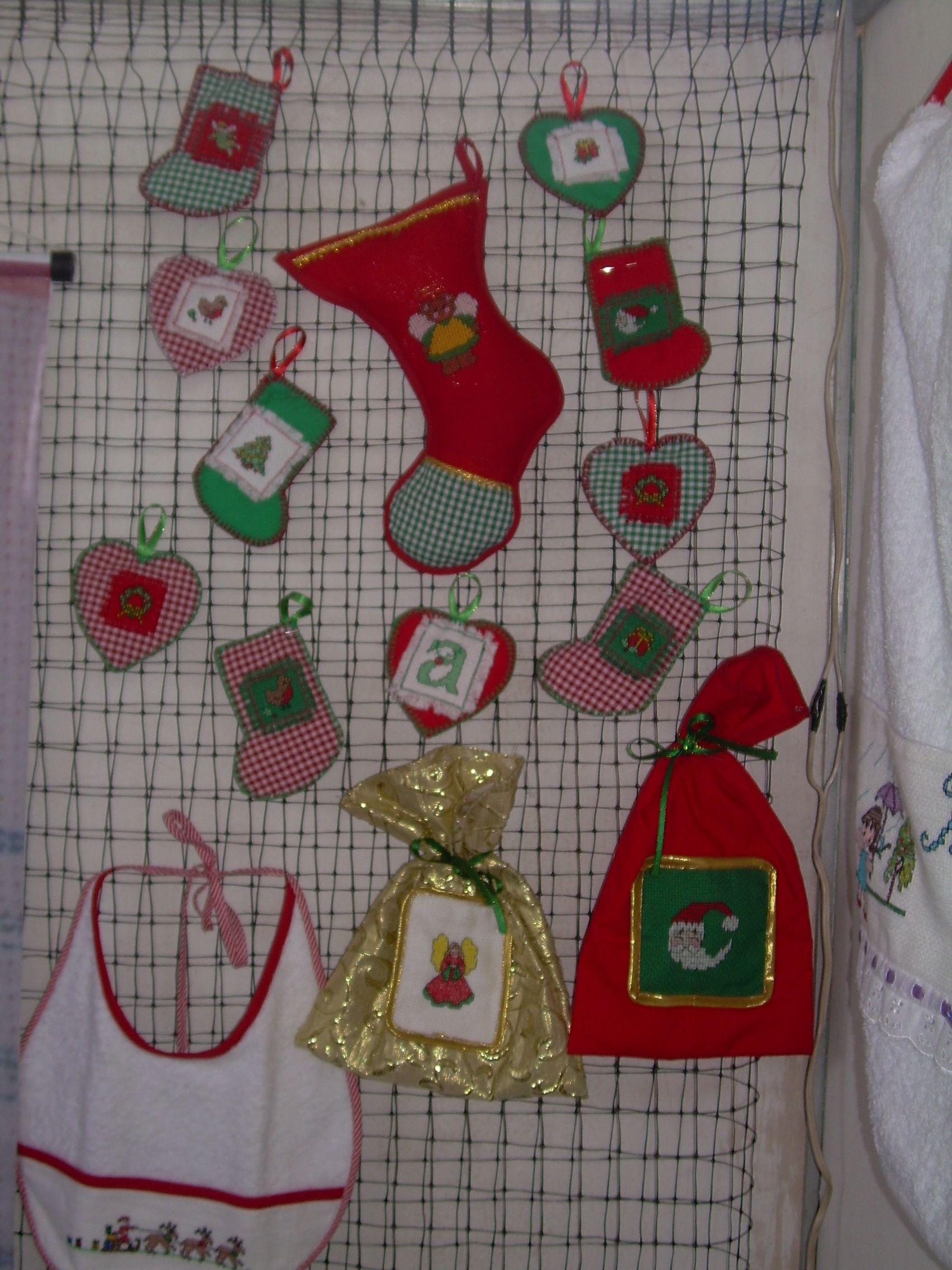 cositas de navidad bota colgandejos para el rbol bolsitas en tela para regalo