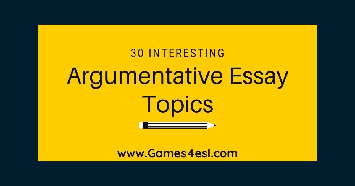 30 Interesting Argumentative Essay Topic Good Sports