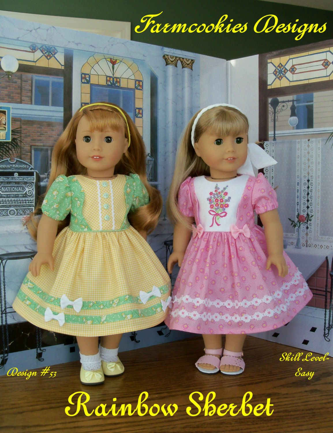 PRINTED SEWING PATTERN For American Girl Doll Clothes / Rainbow ...