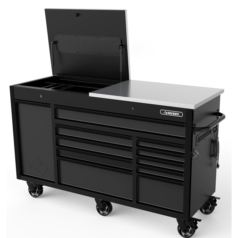 Husky Heavy Duty 63 In W 11 Drawer Deep Tool Chest Mobile