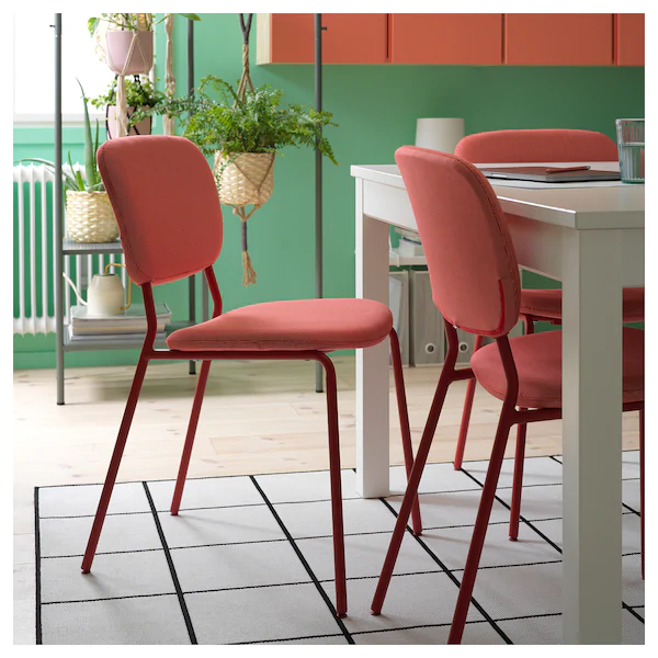Karljan Silla Rojo Kabusa Rojo Ikea In 2020 Chair Upholstered Chairs Ikea Dining Room