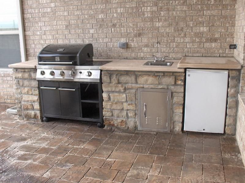 Outdoor Stone Kitchens & Backyard Bars in Houston TX ...