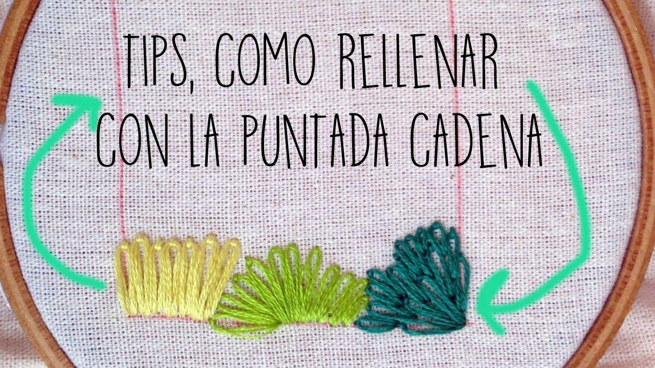:::TIPS Relleno con LA PUNTADA CADENA:::