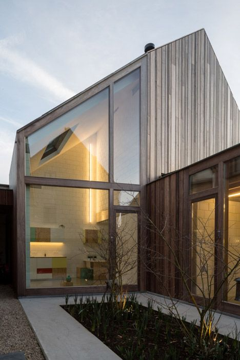 Modern Architecture Windows 50 shades of wood is a timber dentist surgery in bruges | bruges