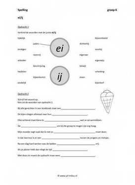 Ongekend Spelling - Ei en ij | Spellingsoefening, 2de leerjaar spelling TD-87