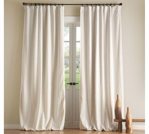 Riviera Stripe Drape Blackout Curtain Pottery Barn Cool Curtains Custom Drapes Striped Curtains