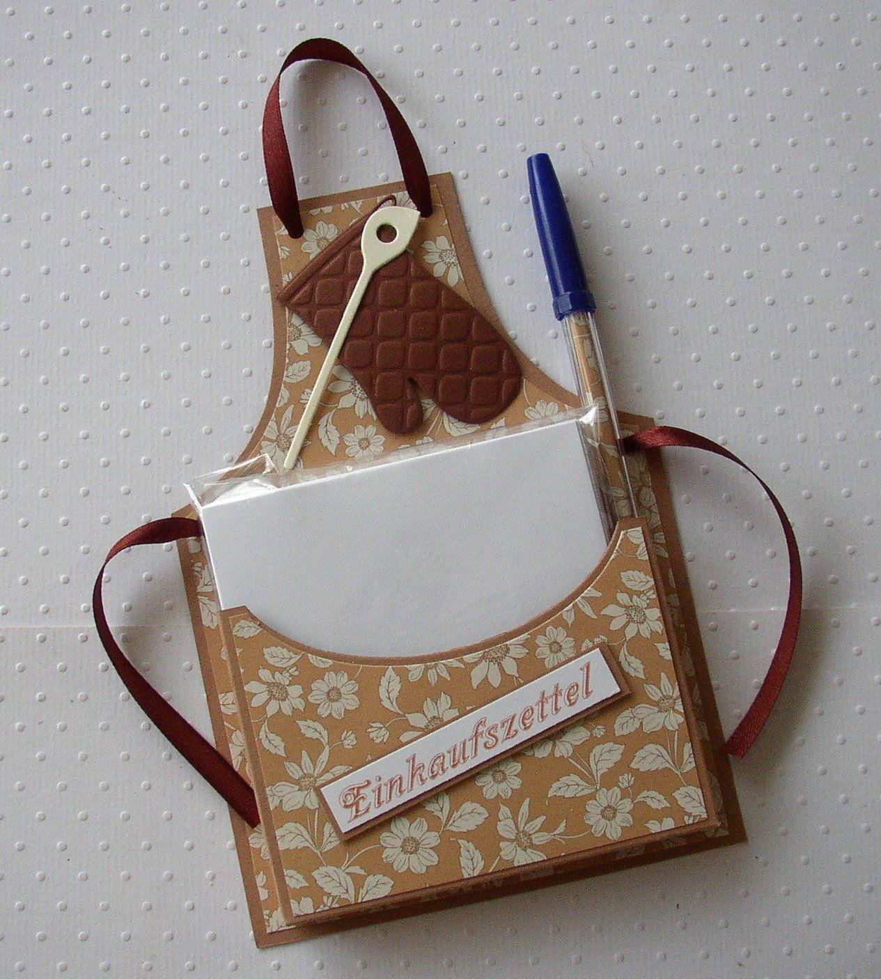 Einkaufszettelhalter Notizzettel Mitbringsel Handarbeit