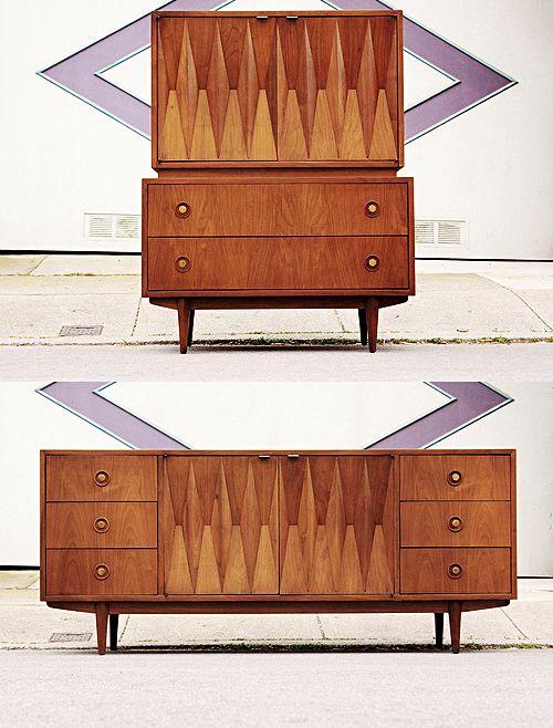 Mid Century Modern Freak | Mid Century Diamond Front Storage By American  Of. Mid Century Modern VanityMcm DesignerFurniture ...