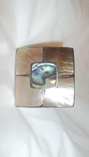 Big & Bold Boho Style Large Mother Of Pearl Inlay Ring