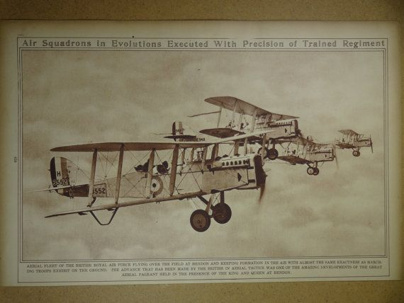 1920's Airplane Aircraft Original Vintage History by oddlyends, $22.00