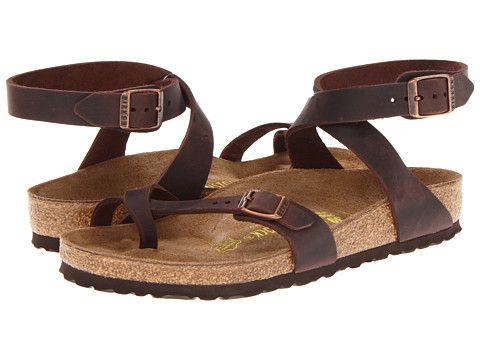 WOMEN'S BIRKENSTOCK YARA Sandals Habana Oiled Leather Size