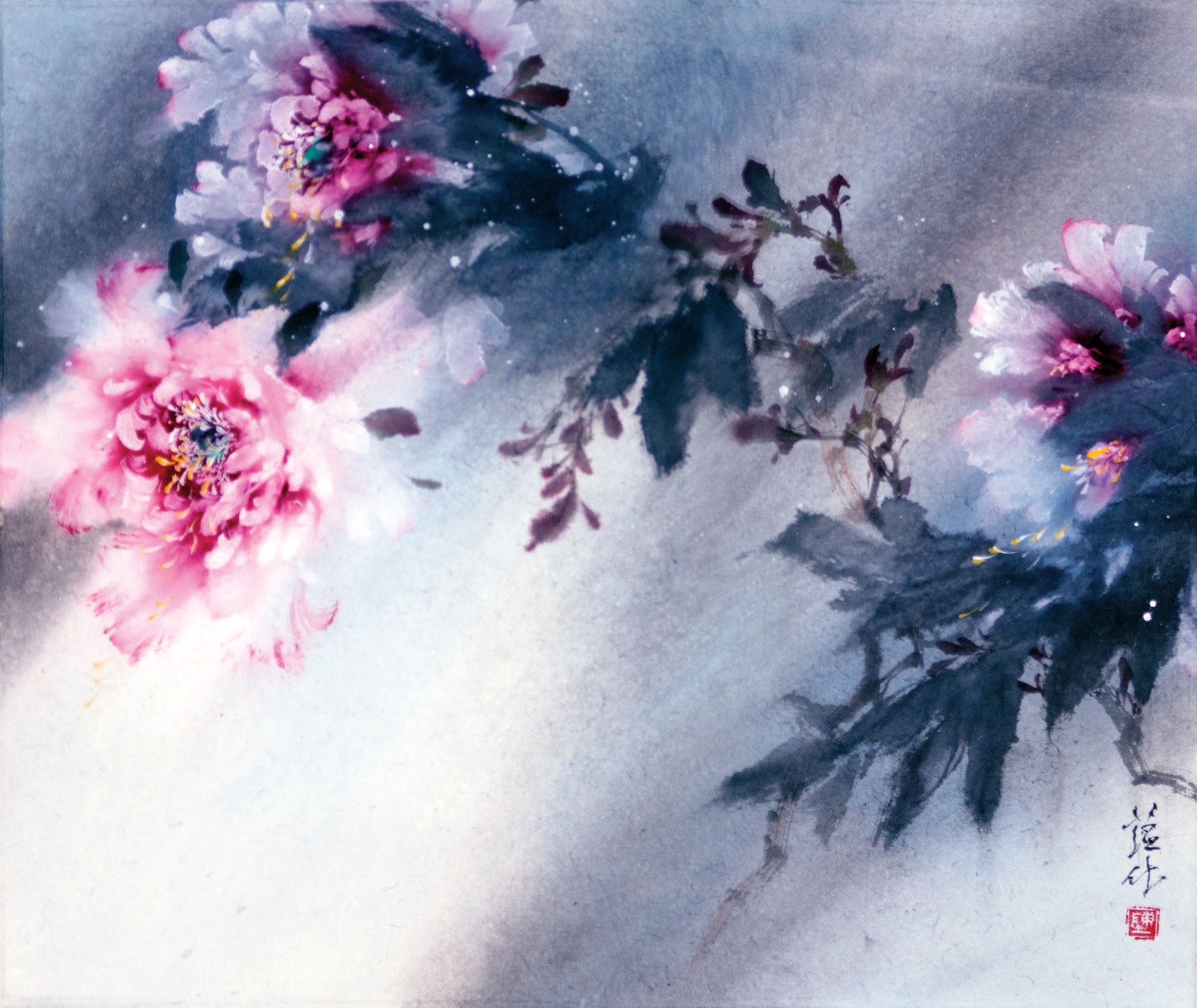 Watercolor art history brush - Chinese Brush Painting By Vancouver Artist James Tan This Lingnan Style Of Paintings Is Taught By James Tan James Gives Lectures And Demonstrations On The