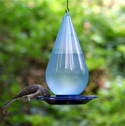 Droplet Bird Waterer Twin Pack Humming Bird Feeders Wild Bird Feeders Glass Hummingbird Feeders