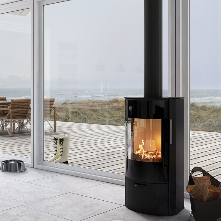 Image Result For Contemporary Wood Burning Stoves In Front Of Bi Fold Doors Contemp Freestanding Fireplace Contemporary Wood Burning Stoves Wood Burning Stove