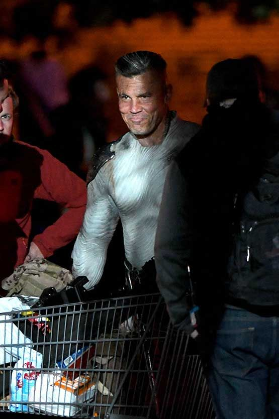 josh brolin arrived on set to film deadpool 2 in a tight fitting costume the actor is set to play cable in the upcoming sequel filmed in vancouver canada