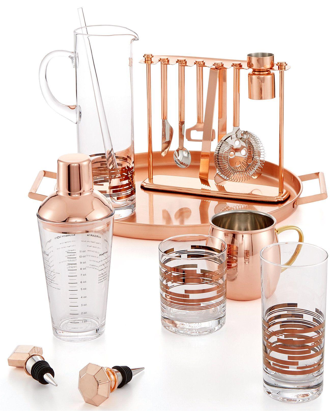 Martha Stewart Collection Copper Barware Collection, Only At Macyu0027s   Bar U0026  Wine Accessories