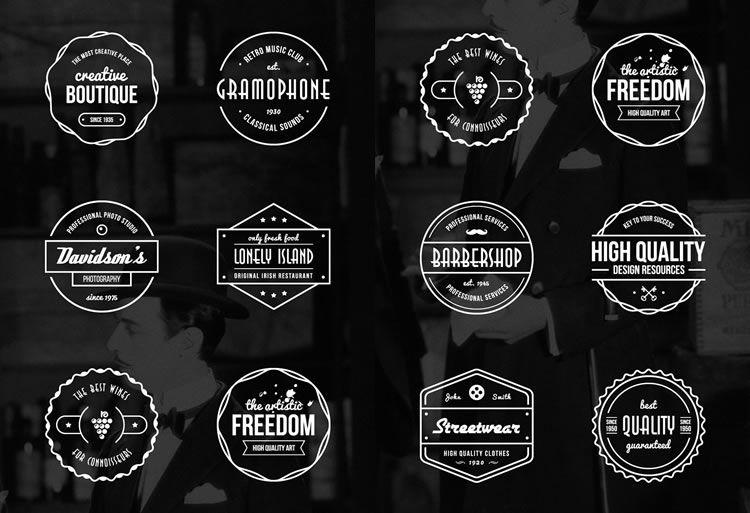 10 Free Vintage Logo Badge Template Collections Vintage Logo Vintage Logo Design Free Logo Templates