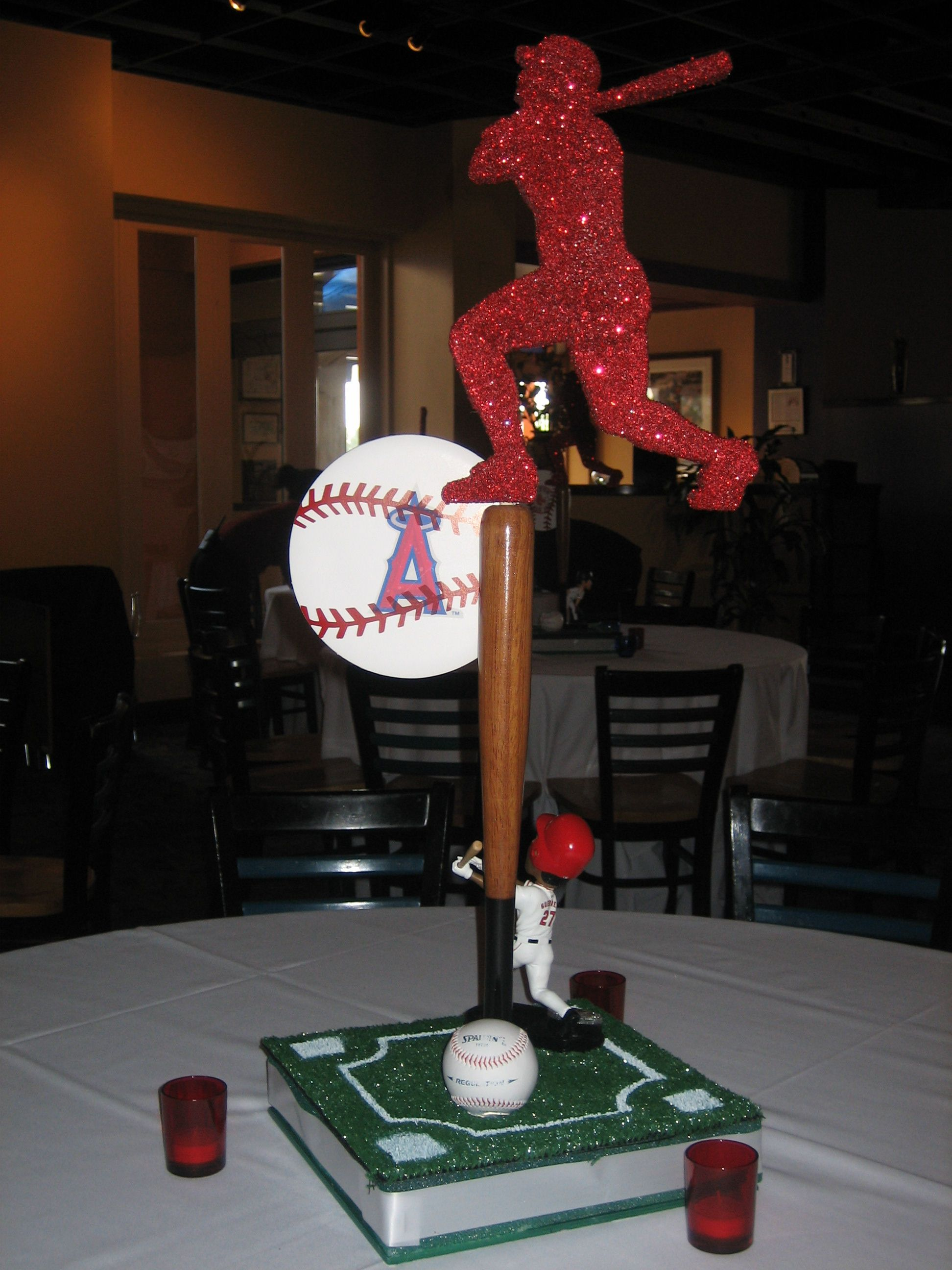 Baseball themed centerpiece sports party pinterest