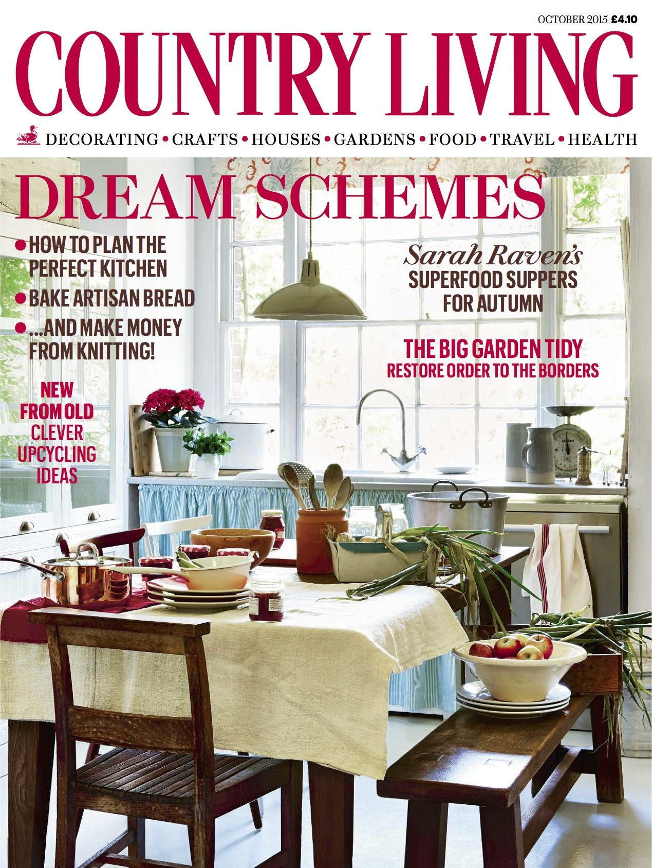 Country Living Magazine October 2015 Cover Countryliving Co Uk Country Living Magazine Country Living Uk Country Living