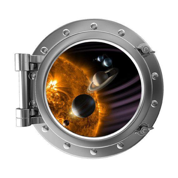 12 Quot Portscape Instant Space Porthole Window Solar System 1
