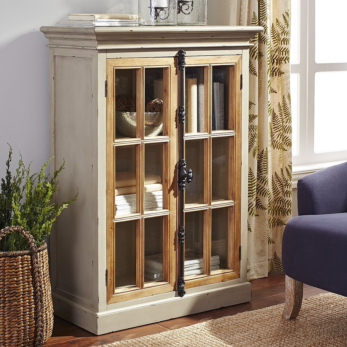 Cremone Low Cabinet - Linen Gray | Pier 1 Imports. The hardware is ...