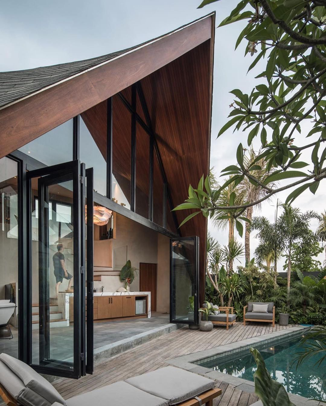 Artsytecture On Instagram River House Bali Designed By Alexisdornier Located In Bali Indonesia Artsytectur In 2020 Architecture Bali House Modern House Exterior