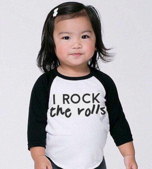 I Rock the Rolls Tee. Toddler Tshirt. Trendy by OneTwentyTwoKids