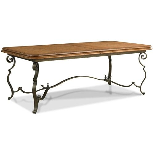 European Heritage By Wood Mode: European Market Cecily Dining Table W/ Wood Top By Drexel
