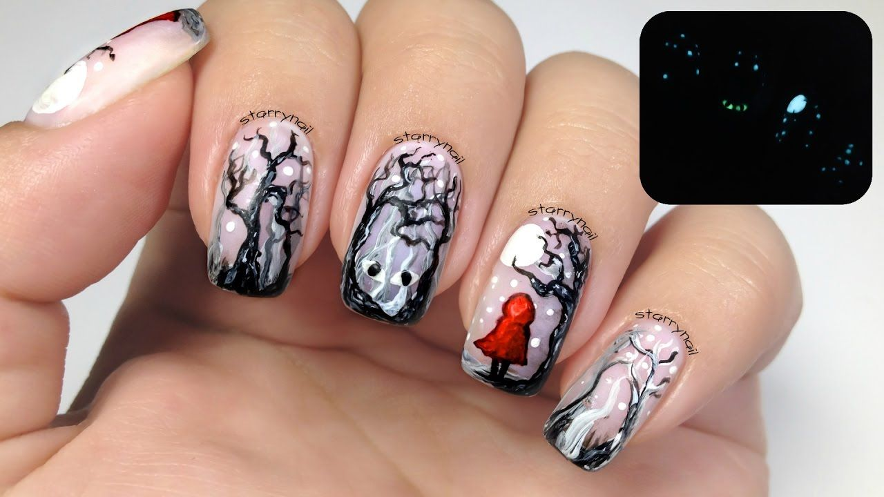 Little Red Riding Hood [Freehand Nail Art] | Nail Art Community Pins ...