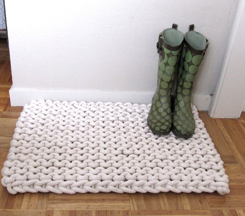 9 DIY Rope Rug Projects to Try | Rope rug, Macrame and Crochet