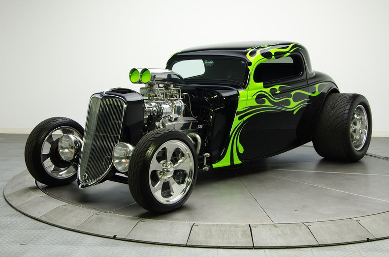 Black 1934 Ford Coupe | RK Motors Charlotte | Collector and Classic Cars