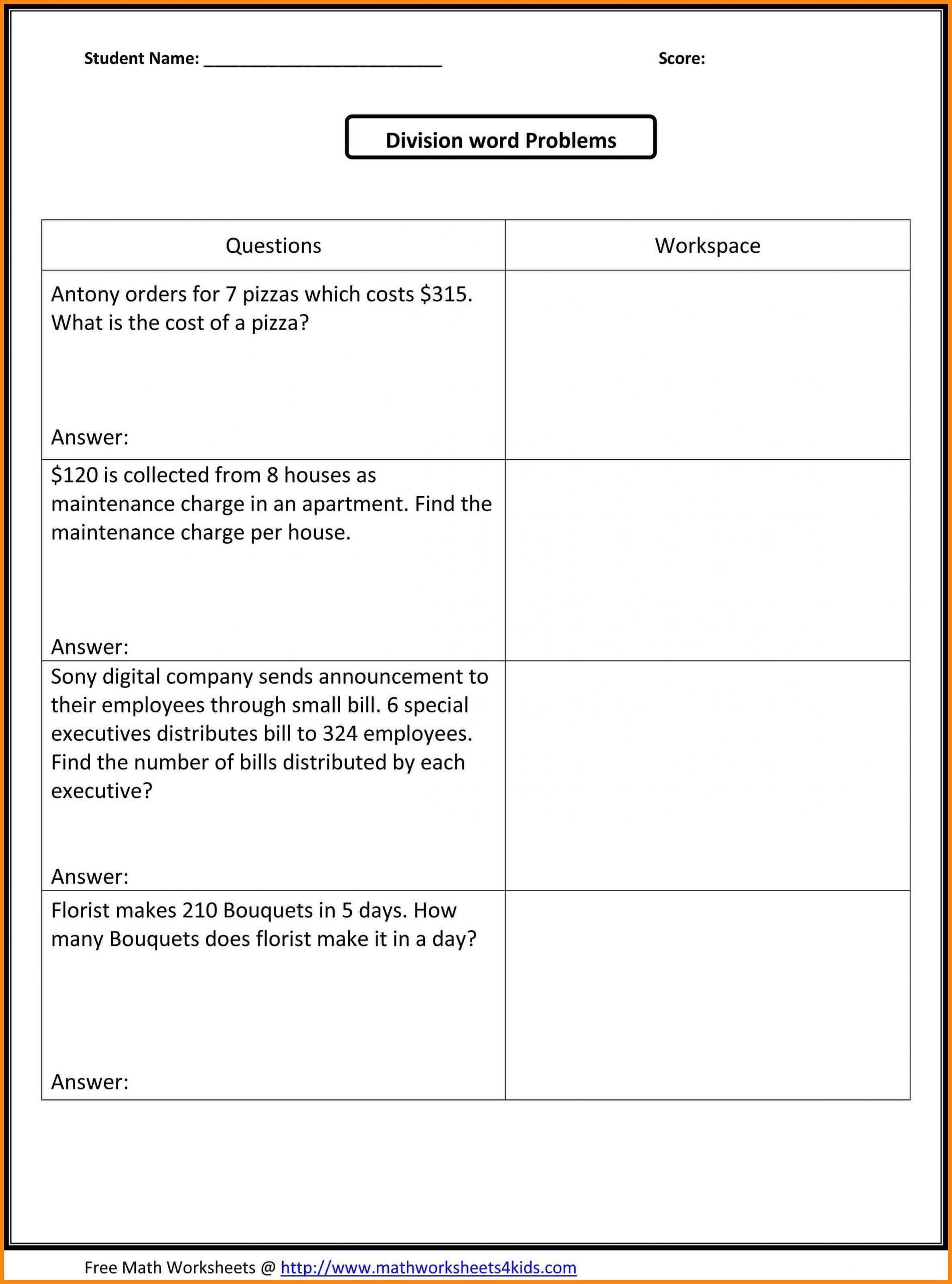 Distributive Property Worksheet 6th Grade Word Problem Worksheets Fraction Word Problems Free Math Worksheets