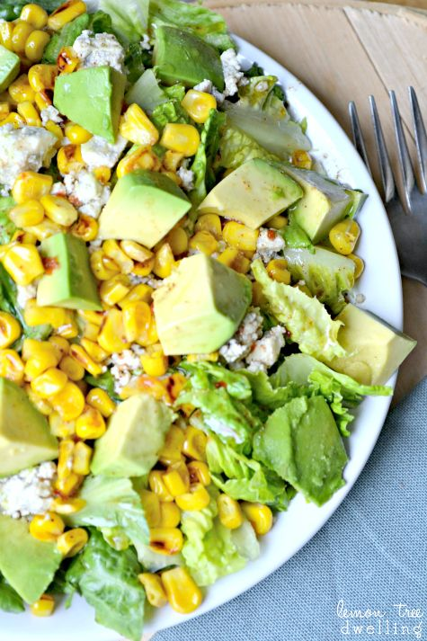 Photo of Grilled Corn Salad with Chili Lime Vinaigrett