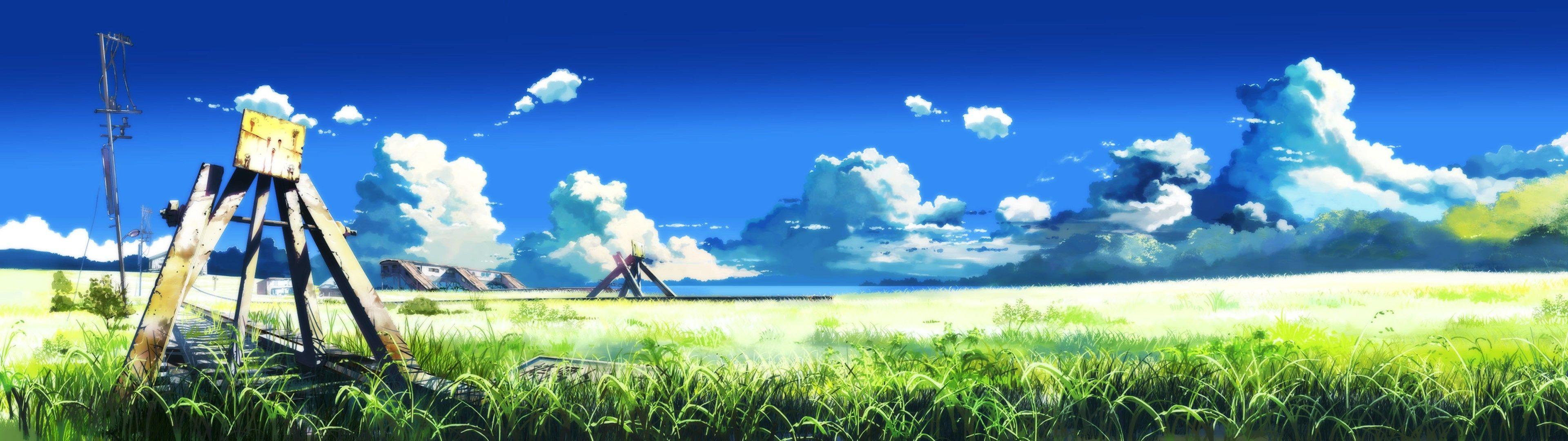 Wallpapers Free Anime 風景の絵 草原 イラスト 風景