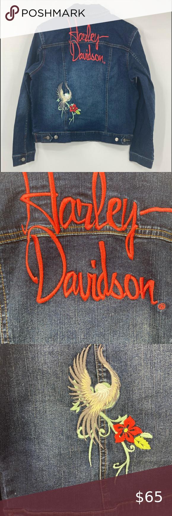 Vintage Harley Davidson Jean Jacket Embroidered Harley Davidson Jean Jacket Harley Davidson Jeans Vintage Harley Davidson [ 1740 x 580 Pixel ]