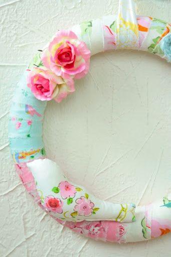 Patchwork wreath