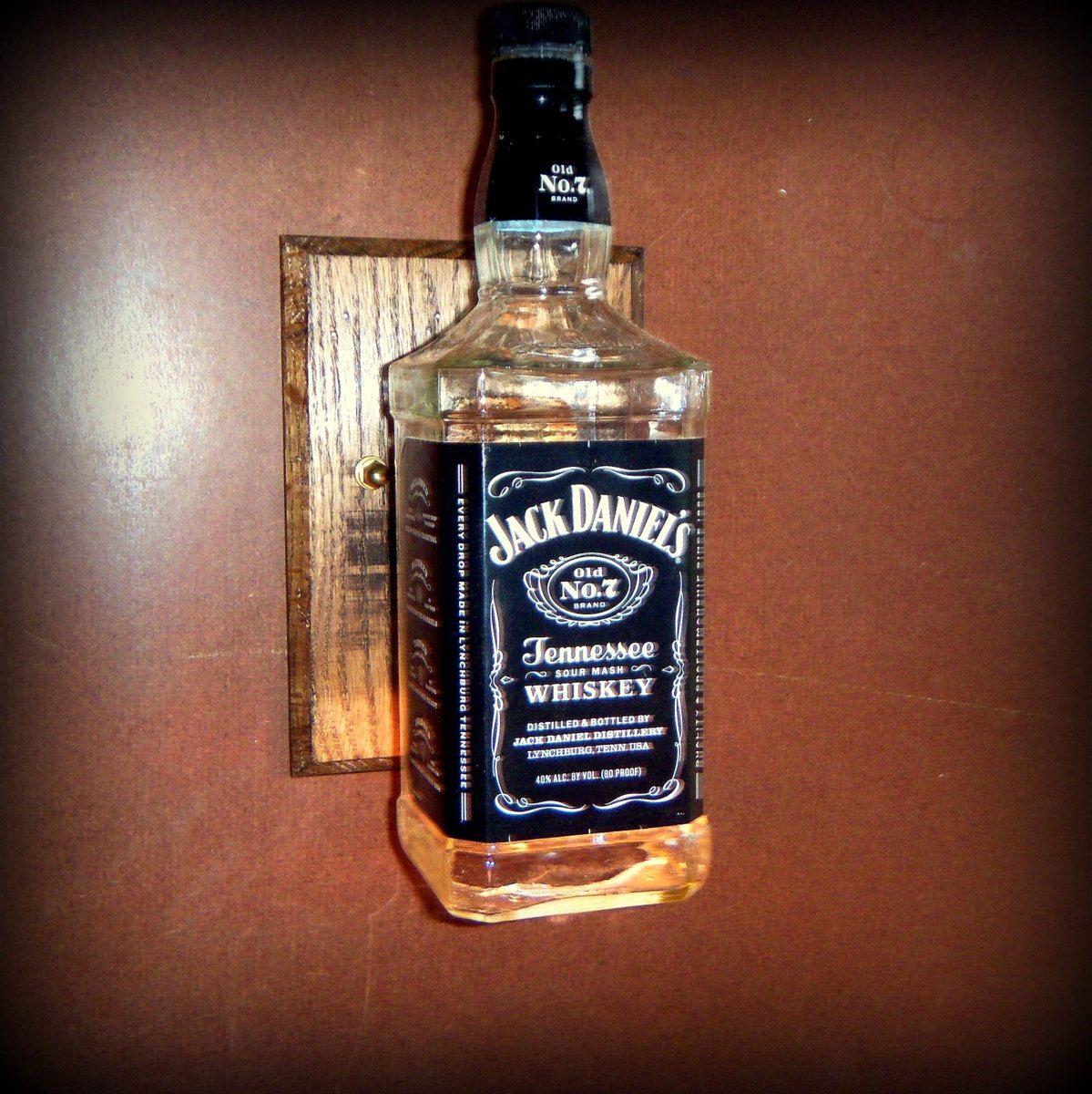 Reclaimed Pallet Wood Jack Daniels Sconce Light Man Cave Wall