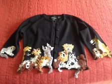Michael Simon cardigan black S small dog puppy SALE WAS $59.99!